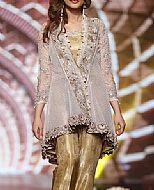 Grey/Golden Net Suit- Pakistani Formal Designer Dress