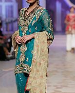 Teal Chiffon Suit- Pakistani Party Wear Dress