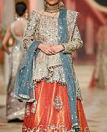 Light Golden/Orange Chiffon Suit- Pakistani Formal Designer Dress