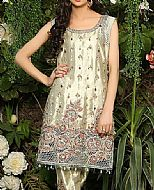 Light Golden Silk Suit- Pakistani Formal Designer Dress
