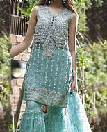 Light Turquoise Chiffon Suit- Pakistani Wedding Dress
