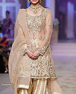 Light Golden Chiffon Suit- Pakistani Party Wear Dress