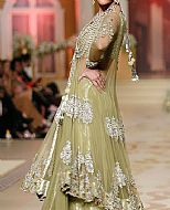 Light Pistachio Net Suit- Pakistani Formal Designer Dress