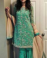 Sea Green Chiffon Suit- Pakistani Bridal Dress