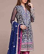 Blue/Magenta Chiffon Suit- Pakistani Formal Designer Dress