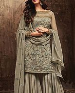 Light Olive Chiffon Suit- Pakistani Wedding Dress