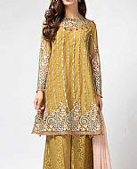 Mehndi Green Chiffon Suit- Pakistani Formal Designer Dress