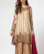 Ivory/Fawn Chiffon Suit- Pakistani Formal Designer Dress