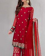 Red Chiffon Suit- Pakistani Party Wear Dress