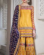 Yellow Jamawar Suit- Pakistani Bridal Dress
