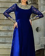 Blue Velvet Suit- Pakistani Party Wear Dress