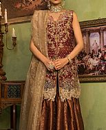 Maroon Crinkle Chiffon Suit- Pakistani Wedding Dress