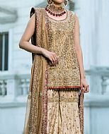 Fawn Crinkle Chiffon Suit- Pakistani Wedding Dress
