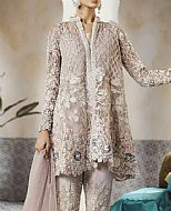 Sand Grey Crinkle Chiffon Suit- Pakistani Formal Designer Dress