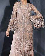 Peach Crinkle Chiffon Suit- Pakistani Formal Designer Dress