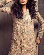 Peach Crinkle Chiffon Suit- Pakistani Formal Designer Dress