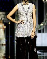 Silver/Brown Chiffon Suit