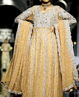 Golden Jamawar Suit- Pakistani Party Wear Dress