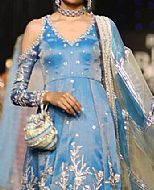 Turquoise Silk Suit- Pakistani Formal Designer Dress