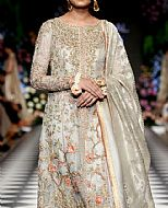Light Grey Crinkle Chiffon Suit- Pakistani Party Wear Dress