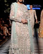 Light Peach Chiffon Suit- Pakistani Formal Designer Dress