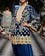 Navy Blue Velvet Suit- Pakistani Party Wear Dress