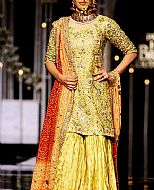 Yellow Crinkle Chiffon Suit- Pakistani Wedding Dress