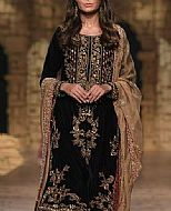Black Velvet Suit- Pakistani Formal Designer Dress