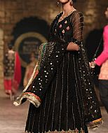 Black Crinkle Chiffon Suit- Pakistani Bridal Dress