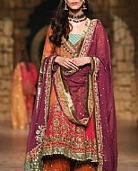 Rust/Plum Crinkle Chiffon Suit- Pakistani Formal Designer Dress