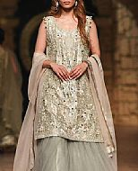 Light Olive Crinkle Chiffon Suit- Pakistani Bridal Dress