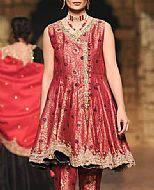 Crimson Jamawar Suit- Pakistani Formal Designer Dress