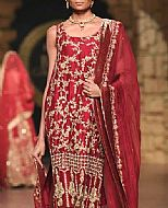 Maroon Silk Suit- Pakistani Formal Designer Dress