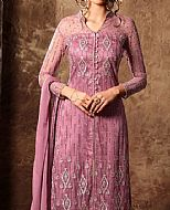 Purple Crinkle Chiffon Suit- Pakistani Party Wear Dress