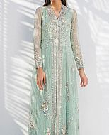 Light Turquoise Crinkle Chiffon Suit- Pakistani Wedding Dress