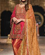 Crimson Crinkle Chiffon Suit- Pakistani Party Wear Dress
