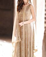 Light Golden Crinkle Chiffon Suit- Pakistani Bridal Dress