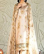 Off-white Crinkle Chiffon Suit- Pakistani Party Wear Dress