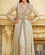 Light Golden Crinkle Chiffon Suit- Pakistani Bridal Dress