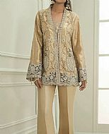 Golden Tissue Silk Suit- Pakistani Formal Designer Dress