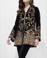 Black Velvet Suit- Pakistani Party Wear Dress