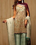 Pistachio Green Chiffon Suit- Pakistani Party Wear Dress