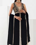 Black Velvet Suit- Pakistani Wedding Dress