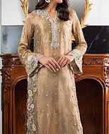 Tan Tissue Suit- Pakistani Formal Designer Dress
