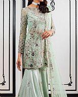 Mint Green Crinkle Chiffon Suit- Pakistani Wedding Dress