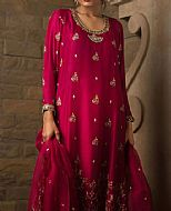 Crimson Crinkle Chiffon Suit- Pakistani Formal Designer Dress