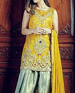 Yellow Chiffon Suit- Pakistani Formal Designer Dress