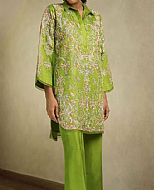 Parrot Green Jacquard Suit- Pakistani Formal Designer Dress