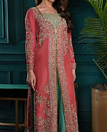 Brink Pink Crinkle Chiffon Suit- Pakistani Formal Designer Dress