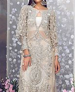 Off-white Net Suit- Pakistani Party Wear Dress